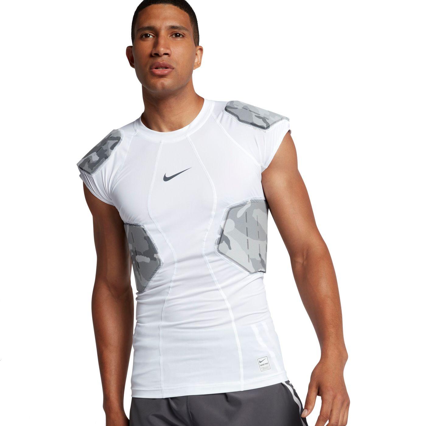 Nike Men's Pro Combat Hyperstrong 4-Pad Camo Football Shirt