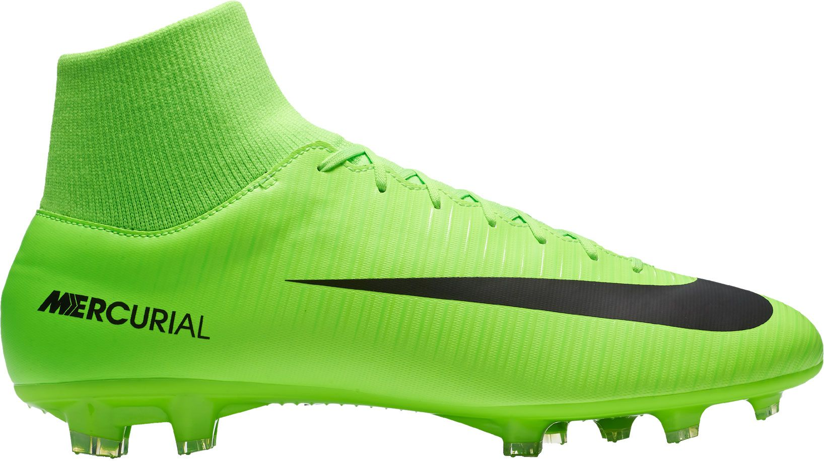 Nike Mercurial Victory VI Dynamic Fit FG Soccer Cleats, Men's, Size: 10.0, Green