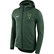 Nike Men's Milwaukee Bucks On-Court Green Dri-FIT Showtime Full-Zip Hoodie