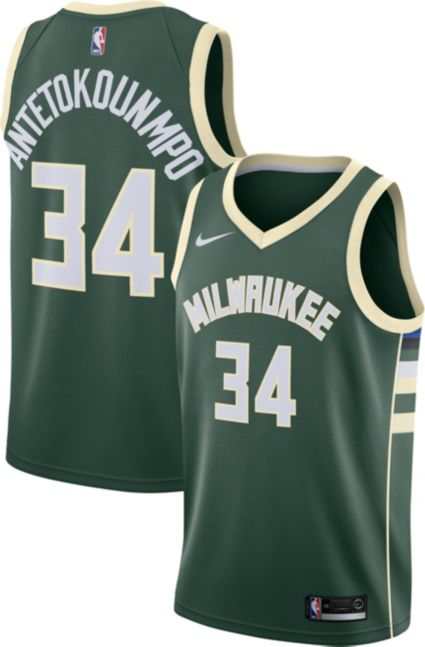 Nike Men s Milwaukee Bucks Giannis Antetokounmpo  34 Green Dri-FIT Swingman  Jersey. noImageFound 2308ac6f1