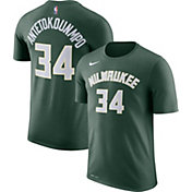 Nike Men's Milwaukee Bucks Giannis Antetokounmpo #34 Dri-FIT Green T-Shirt