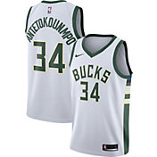 Nike Men's Milwaukee Bucks Giannis Antetokounmpo #34 White Dri-FIT Swingman Jersey