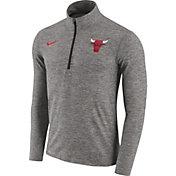 Nike Men's Chicago Bulls Dri-FIT Grey Element Half-Zip Pullover