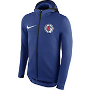 Nike Men's Los Angeles Clippers On-Court Royal Therma Flex Showtime Full-Zip Hoodie