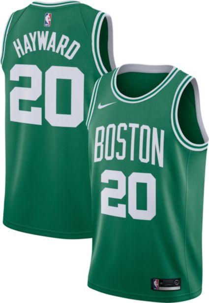 Nike Men s Boston Celtics Gordon Hayward  20 Kelly Green Dri-FIT ... db0f794b3dbf