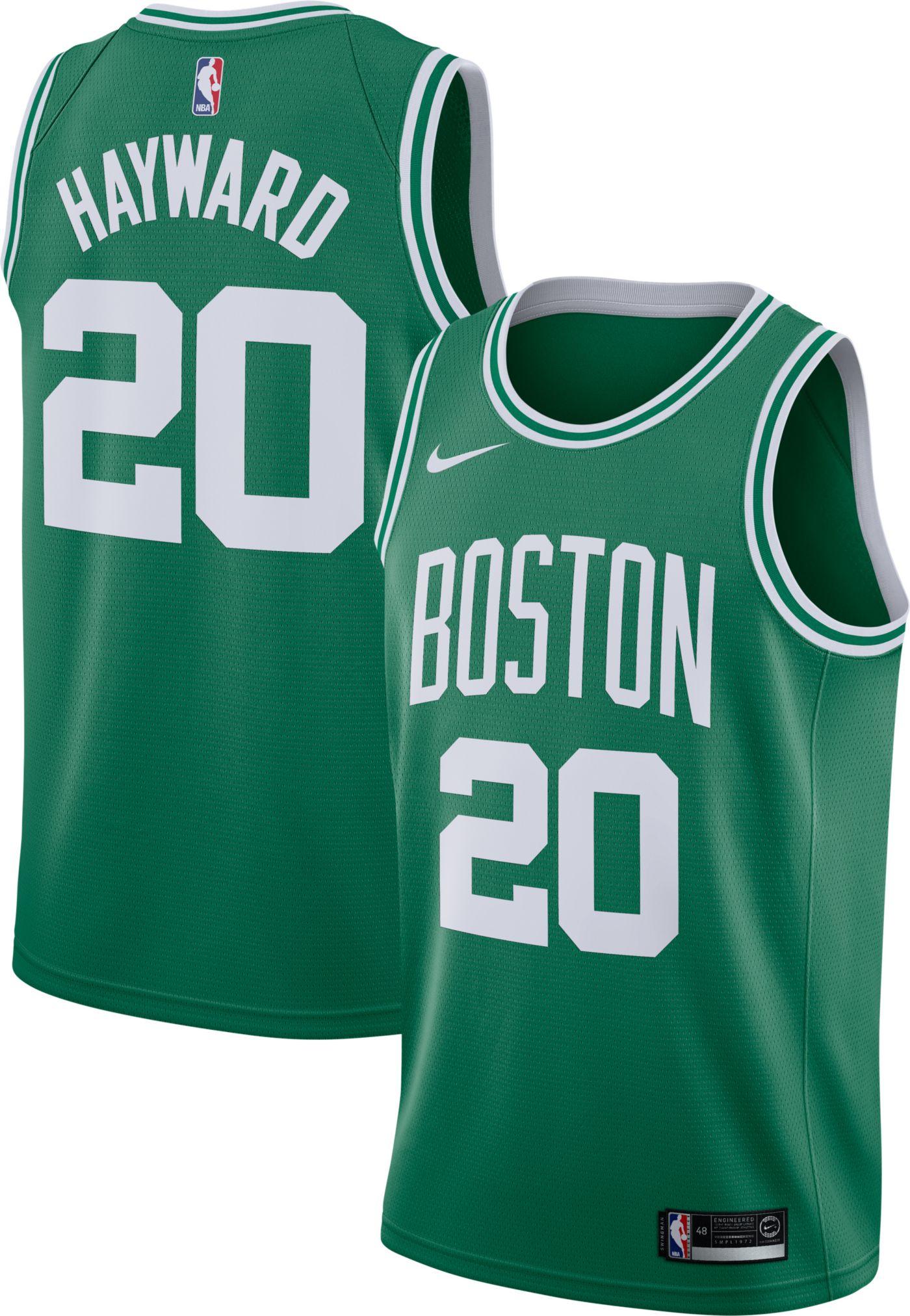 Nike Men's Boston Celtics Gordon Hayward #20 Kelly Green Dri-FIT Swingman Jersey
