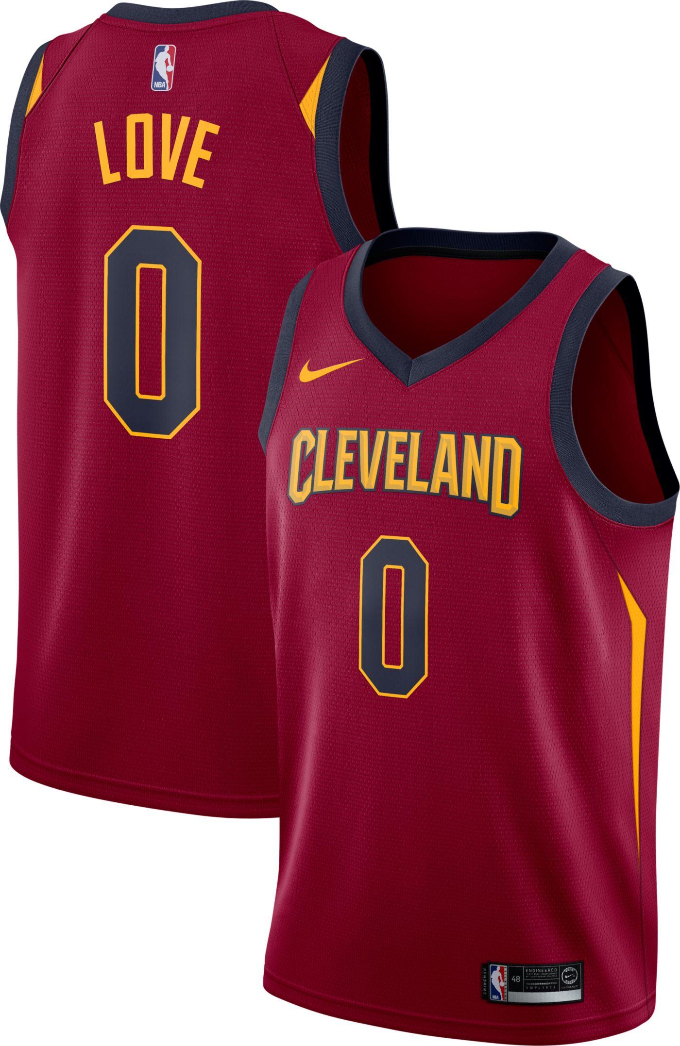 Nike Men's Cleveland Cavaliers Kevin Love #0 Burgundy Dri-FIT Swingman Jersey