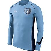 Nike Men's Memphis Grizzlies Dri-FIT Hyper Elite Light Blue Long Sleeve Shirt