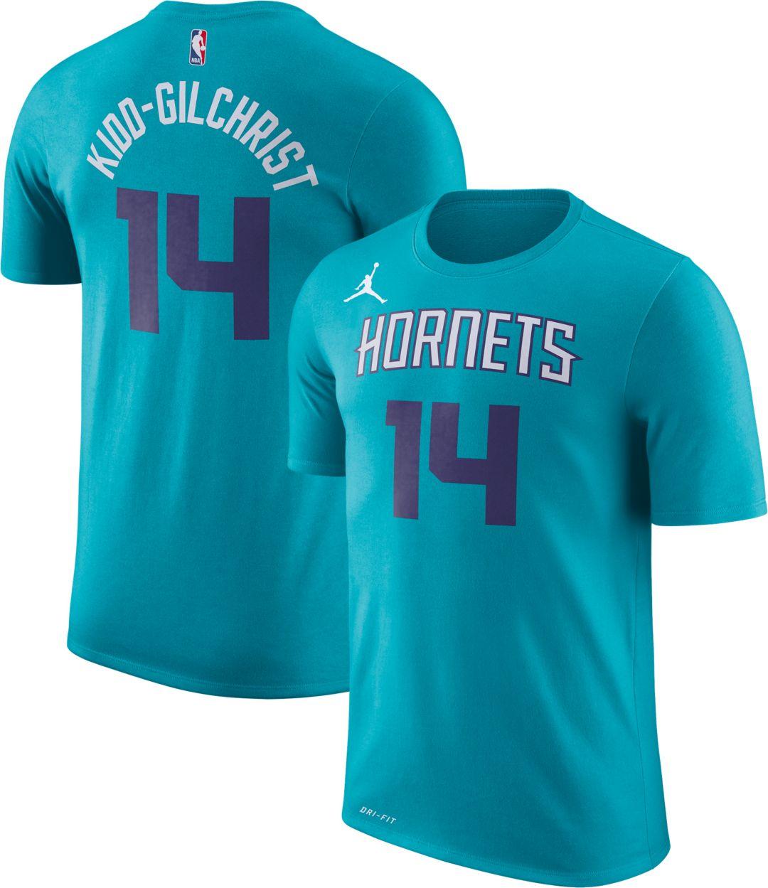 pretty nice d09a5 fbadd Jordan Men's Charlotte Hornets Michael Kidd-Gilchrist #14 Dri-FIT Teal  T-Shirt