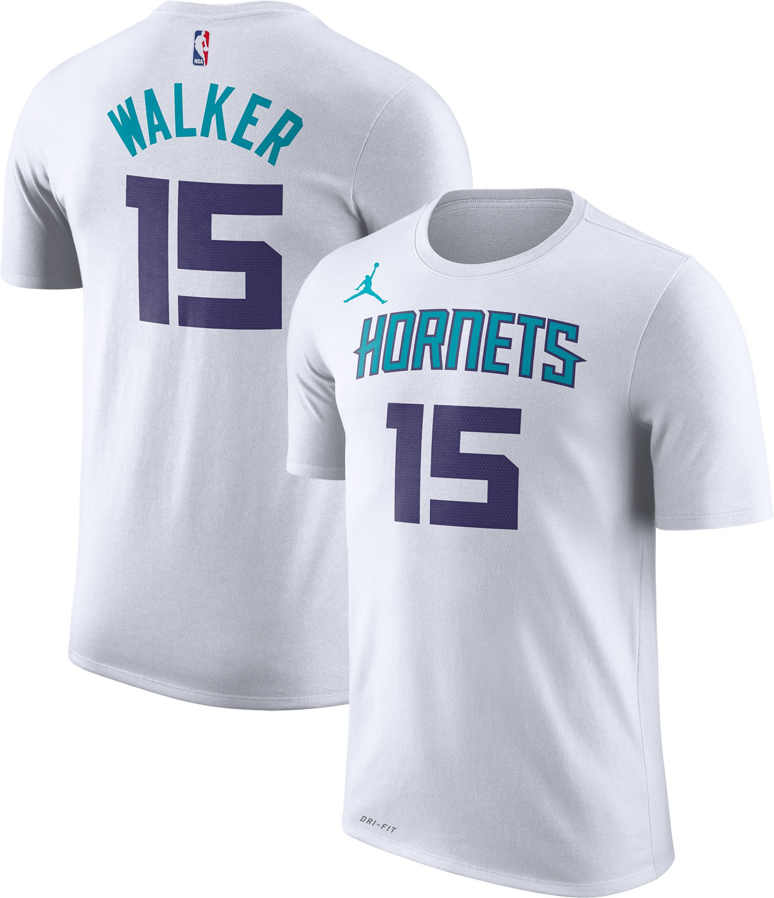 ... where to buy jordan mens charlotte hornets kemba walker 15 dri fit white  t shirt 259c2 a60701bf3