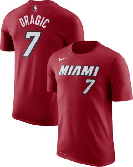 2802562e3a50 Nike Men s Miami Heat Goran Dragic  7 Dri-FIT Red T-Shirt