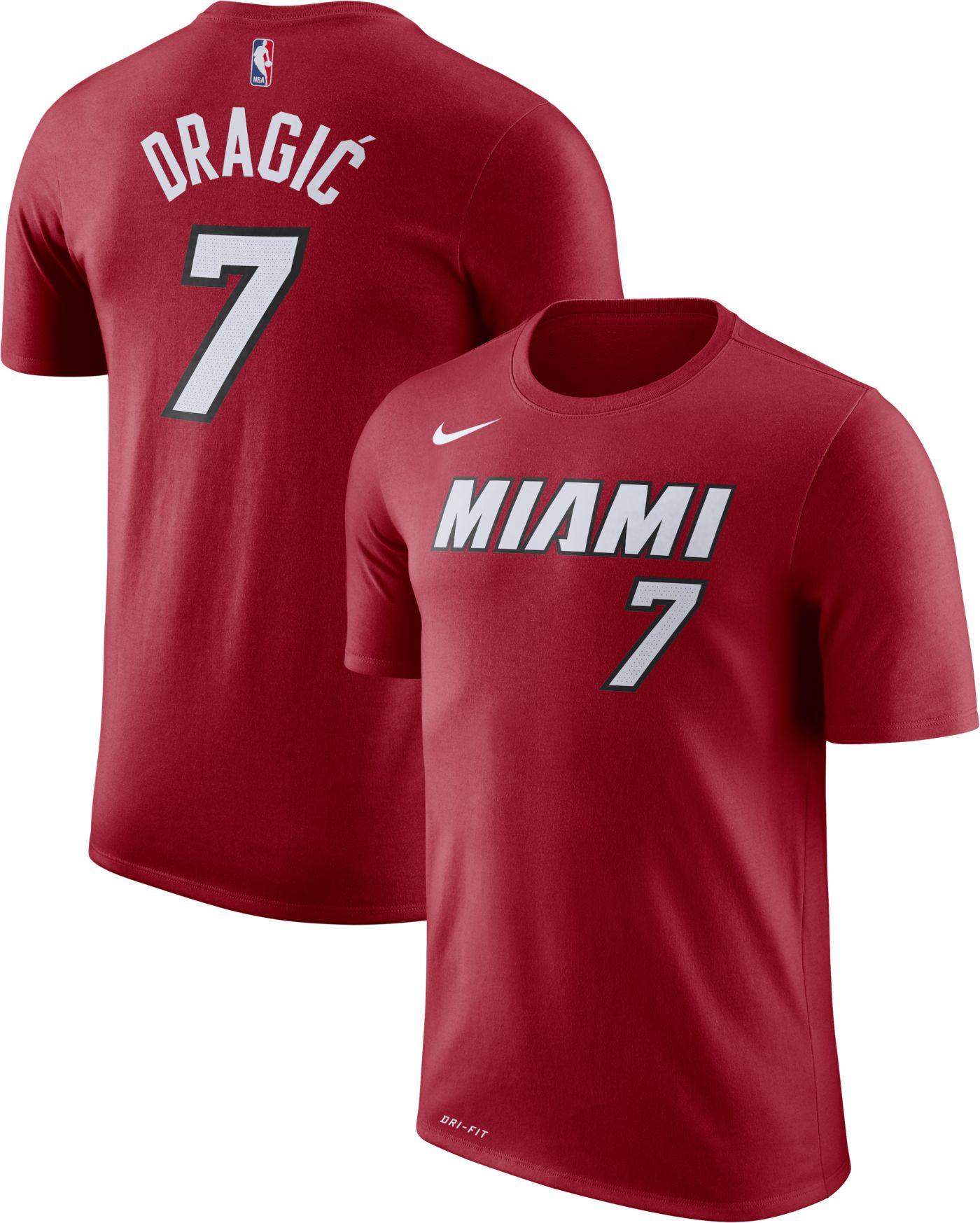 Nike Men's Miami Heat Goran Dragic #7 Dri-FIT Statement Red T-Shirt