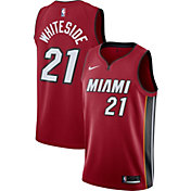 Nike Men's Miami Heat Hassan Whiteside #21 Red Dri-FIT Swingman Jersey