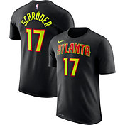 Nike Men's Atlanta Hawks Dennis Schröder #17 Dri-FIT Black T-Shirt