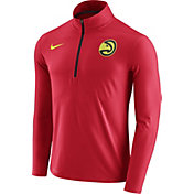 Nike Men's Atlanta Hawks Dri-FIT Red Element Half-Zip Pullover