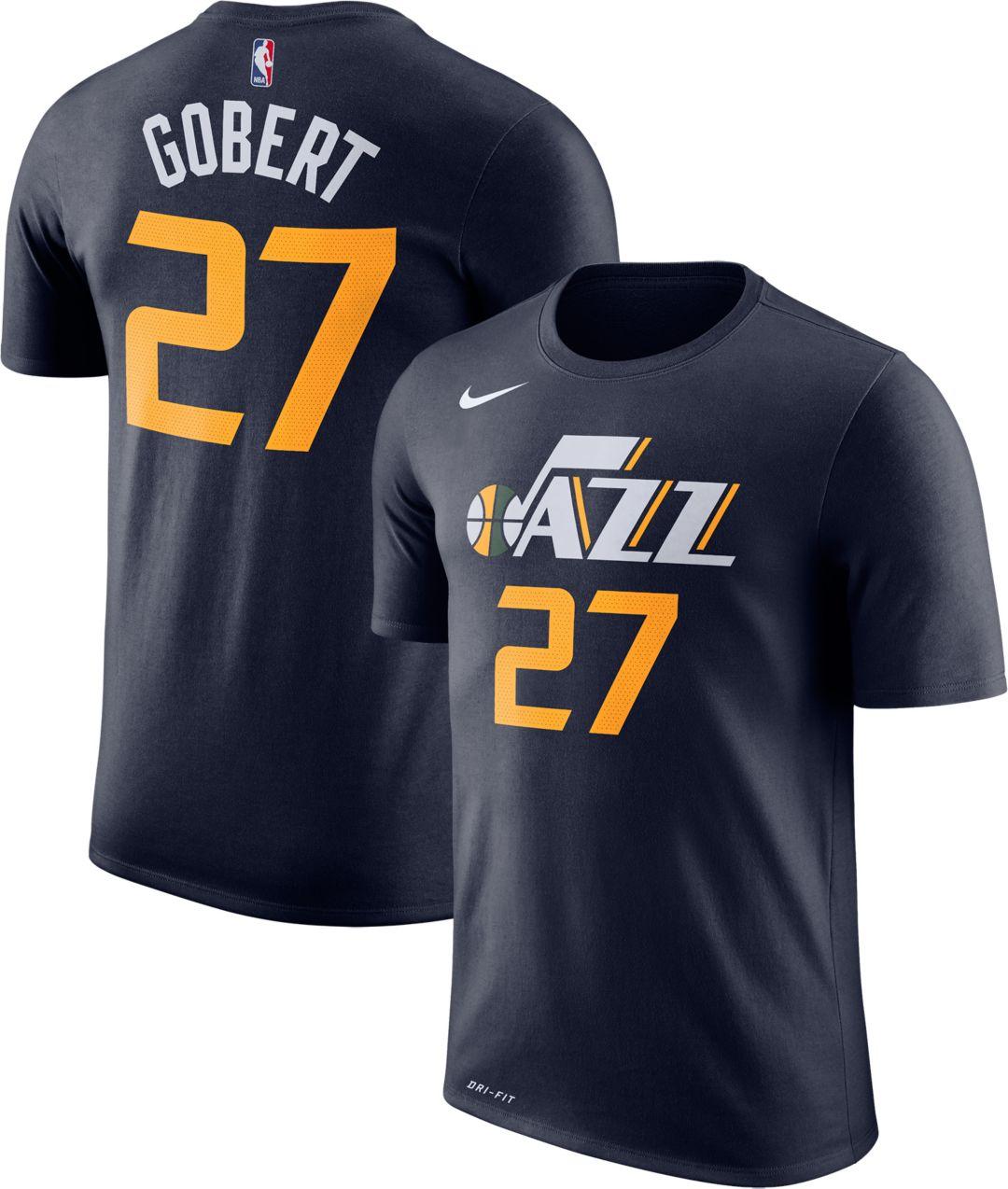 release date: 137a6 ade4c Nike Men's Utah Jazz Rudy Gobert #27 Dri-FIT Navy T-Shirt