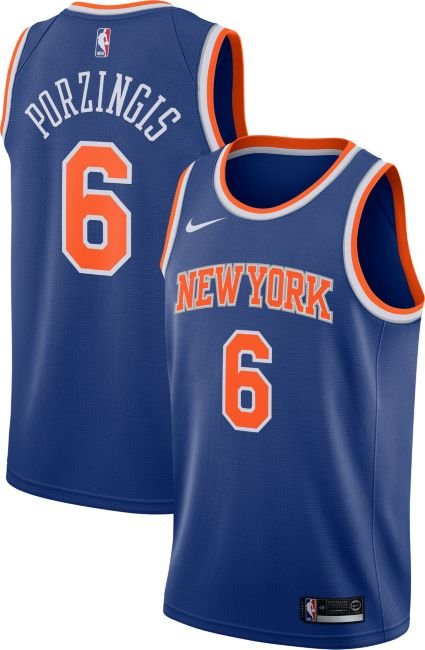 Nike Men s New York Knicks Kristaps Porzingis  6 Royal Dri-FIT Swingman  Jersey. noImageFound 915f1aa7b