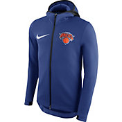 Nike Men's New York Knicks On-Court Royal Therma Flex Showtime Full-Zip Hoodie