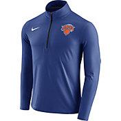 Nike Men's New York Knicks Dri-FIT Royal Element Half-Zip Pullover
