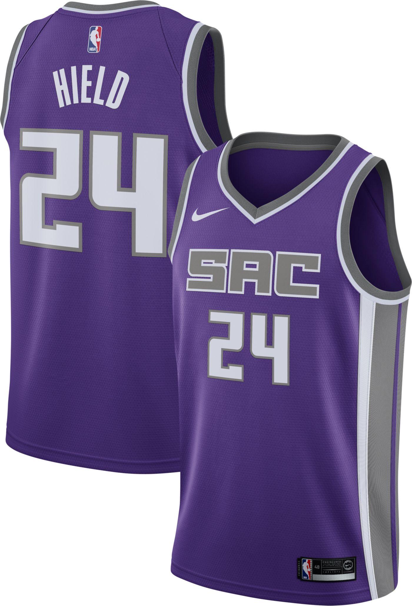 Nike Men's Sacramento Kings Buddy Hield #24 Purple Dri-FIT Swingman Jersey