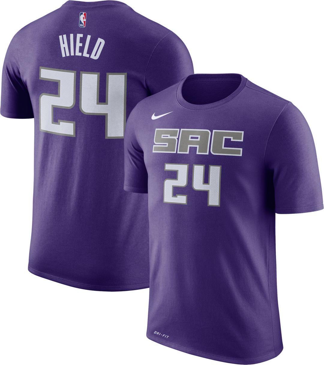 brand new e52f5 3f45a Nike Men's Sacramento Kings Buddy Hield #24 Dri-FIT Purple T-Shirt