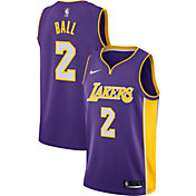 Nike Men's Los Angeles Lakers Lonzo Ball #2 Purple Dri-FIT Swingman Jersey