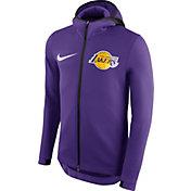 Nike Men's Los Angeles Lakers On-Court Purple Therma Flex Showtime Full-Zip Hoodie