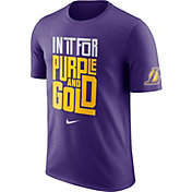 "Nike Men's Los Angeles Lakers Dri-FIT ""In It For Purple and Gold"" Purple T-Shirt"