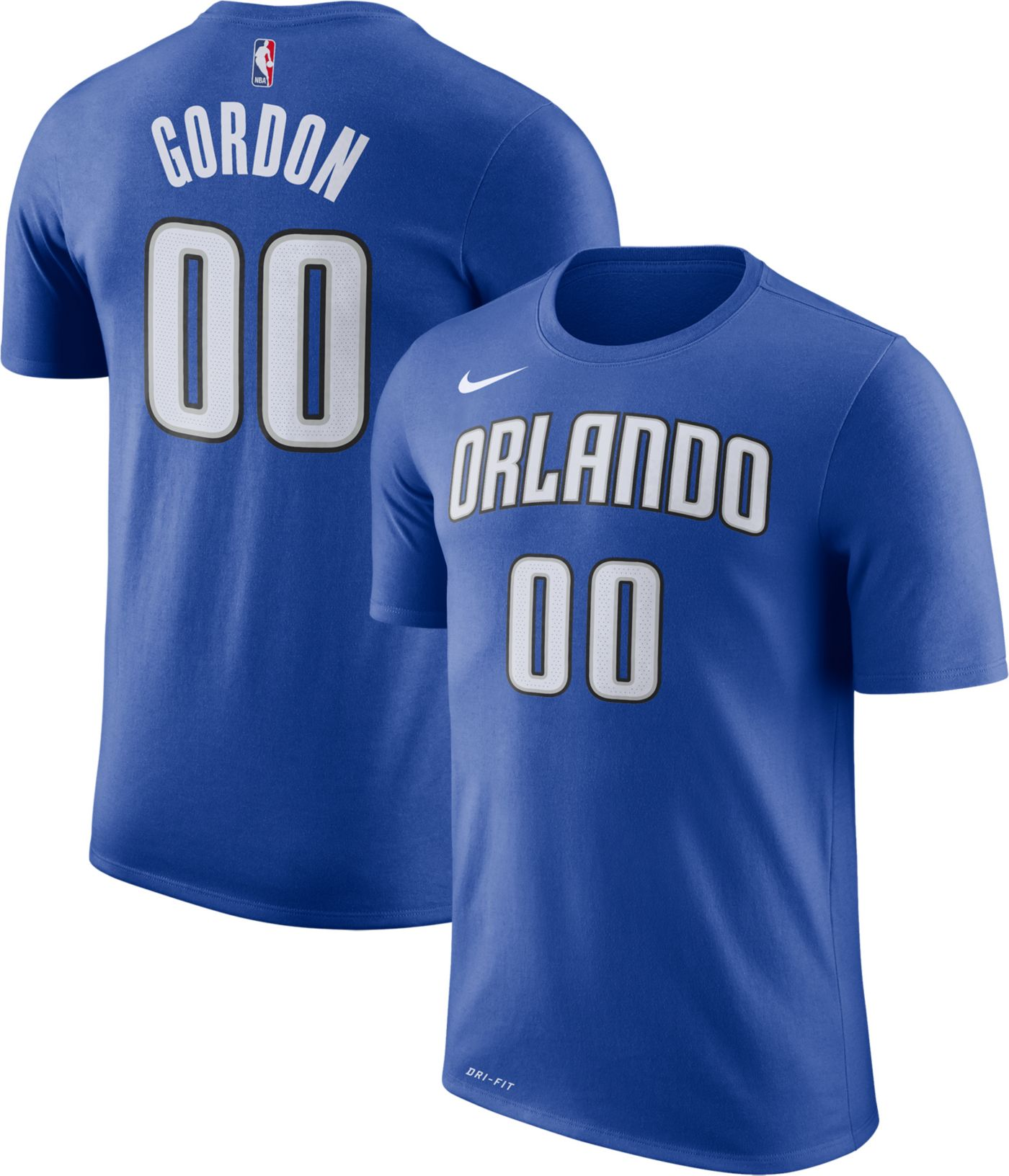 Nike Men's Orlando Magic Aaron Gordon #00 Dri-FIT Royal T-Shirt