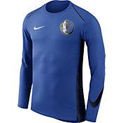 Nike Men's Dallas Mavericks Dri-FIT Hyper Elite Royal Long Sleeve Shirt