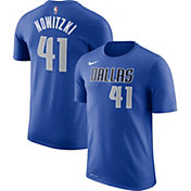 Nike Men's Dallas Mavericks Dirk Nowitzki #41 Dri-FIT Royal T-Shirt