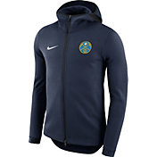 Nike Men's Denver Nuggets On-Court Navy Dri-FIT Showtime Full-Zip Hoodie