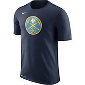 Nike Men's Denver Nuggets Dri-FIT Navy Logo T-Shirt