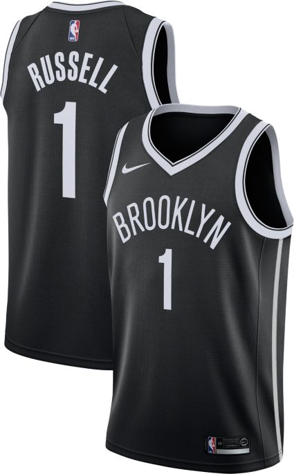 Nike Men s Brooklyn Nets D Angelo Russell  1 Black Dri-FIT Swingman Jersey.  noImageFound dd62f6118