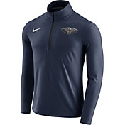 Nike Men's New Orleans Pelicans Dri-FIT Navy Element Half-Zip Pullover