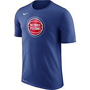 Nike Men's Detroit Pistons Dri-FIT Royal Logo T-Shirt