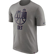 Nike Men's Detroit Pistons Dri-FIT Grey Cityscape T-Shirt