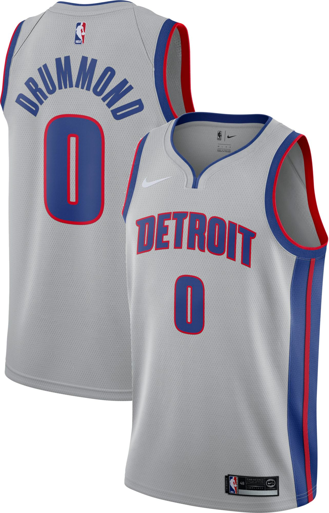 392e5f134 ... buy nike mens detroit pistons andre drummond 0 grey statement dri fit  swingman jersey 8328a 1138a