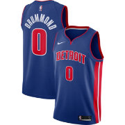 Nike Men's Detroit Pistons Andre Drummond #0 Royal Dri-FIT Swingman Jersey