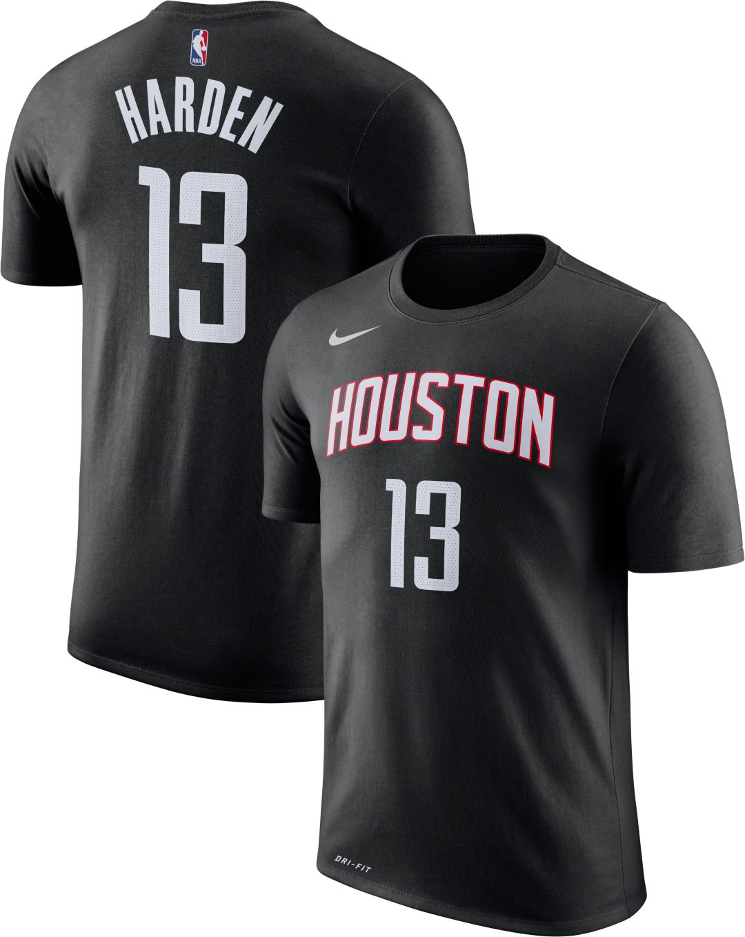 best sneakers 7f4a9 d54a1 Nike Men's Houston Rockets James Harden #13 Dri-FIT T-Shirt