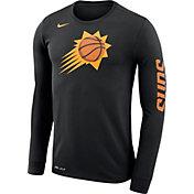 Nike Men's Phoenix Suns Dri-FIT Black Logo Long Sleeve Shirt