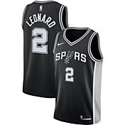 Nike Men's San Antonio Spurs Kawhi Leonard #2 Black Dri-FIT Swingman Jersey