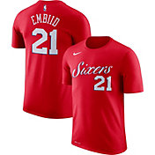 Nike Men's Philadelphia 76ers Joel Embiid #21 Dri-FIT Red T-Shirt