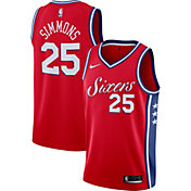 Nike Men's Philadelphia 76ers Ben Simmons #25 Red Dri-FIT Statement Swingman Jersey