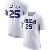 Nike Men's Philadelphia 76ers Ben Simmons #25 Dri-FIT White T-Shirt