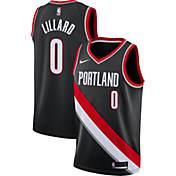 Nike Mens Portland Trail Blazers Damian Lillard  0 Black Dri-FIT Swingman  Jersey 724c5737673