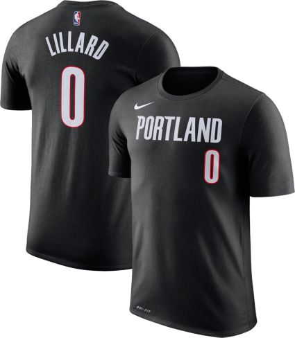 b2f1d7f7 Nike Men's Portland Trail Blazers Damian Lillard #0 Dri-FIT Black T-Shirt.  noImageFound. Previous