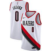 new styles 8d7df 7c24f Nike Mens Portland Trail Blazers Damian Lillard  0 White Dri-FIT Swingman  Jersey
