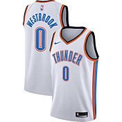 reputable site c6268 55ca5 Product Image · Nike Men s Oklahoma City Thunder Russell Westbrook  0 White  Dri-FIT Swingman Jersey