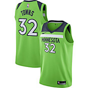 Nike Men's Minnesota Timberwolves Karl-Anthony Towns #32 Green Statement Dri-FIT Swingman Jersey